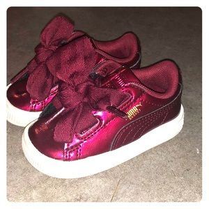 Like New Red Patent Leather Puma Tennis Shoes!